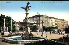 Pozsony. Kossuth Lajos tér | Képcsarnok | Hungaricana Bratislava, Czech Republic, Hungary, Budapest, Poland, Louvre, Mansions, House Styles, Building