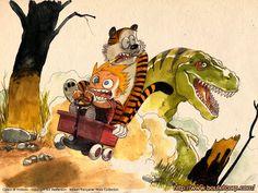 AXTO OnLine: Calvin e Hobbes como talvez você nunca tenha visto