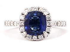 Trendy Diamond Rings : sapphire ring