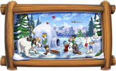 Arctic North Pole Glacier Island Room in a Tube Peel and Stick Wall Decals