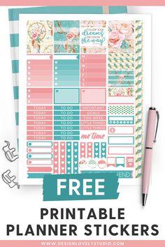 Enjoy this super cute free printable summer planner stickers kit! #plannerstickers #freeplannerstickers #plannerfreebie #erincondren #happyplanner #printablestickers Free Planner, Happy Planner, Summer Planner, Planner Decorating, Printable Planner Stickers, Erin Condren Life Planner, Sticker Design, Kit, Studio