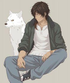 Wolf& rain - kiba by ookurikara/ - zerochan Anime Wolf, Manga Anime, Anime Art, Touken Ranbu, Character Concept, Character Design, Anime Guys Shirtless, Wolf Children, Anime Animals