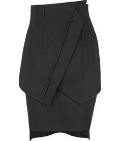zsazsasitlist: por Givenchy serio para morirse!  ¡LO NECESITA Y QUIERE!  Ver más aquí: Negro Falda de talle alto de lana Lápiz