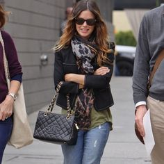 I want her bag! And her scarf...and jacket...