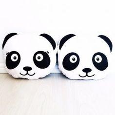 Panda Cushion #oliverthomas #foxandmoon #panda #kidsstyle #cushion #nursery #kidsroom #monochrome #kidsinteriors #nurseryinspo