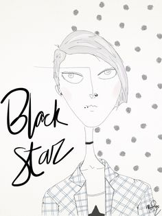 Black Star- 15/04.  // #design #fashion #grunge #backstar #davidbowie #illustration #ilustraçao #90s #girlpower