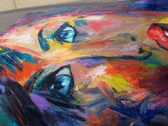 Blue Eyes, Oil, Painting, Painting Art, Paintings, Painted Canvas, Drawings