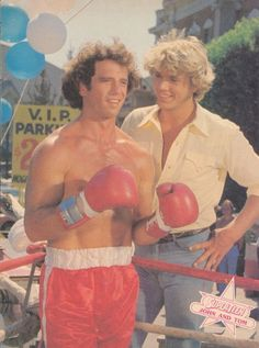 Tom Wopat & John Schneider in Dukes of Hazzard (1979-85, CBS) OMG, had such a huge crush on both of these guys, which confused the hell out of me at 10!! lolol