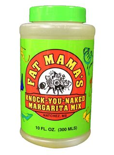 Amazon.com : Fat Mama's Knock-You Naked Margarita Mix - Set of 4 : Make frozen, shaken, swirl, on the rocks, strawberry margarita. Just add tequila, ice and salt on glass. Strawberry in the blender or puree for swirl.