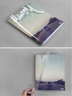 Publication design | transparent cover with nice hand style typography #print