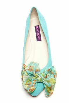 Mojo Moxy Vanity Floral Bow Flat love the colors Bow Shoes, Bow Flats, Cute Shoes, Me Too Shoes, Shoes Sandals, Heels, Suede Flats, Pretty Shoes, Shoe Closet