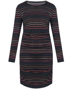 Lurex stripes and side ruching give our Daphne minidress a glamorous appeal, while a hint of stretch allows for a comfortable fit. Style with strappy sa. Garment Bags, Veronica Beard, Glamour, Sweaters, How To Wear, Woman, Black, Dresses, Closet