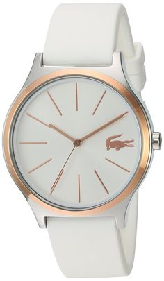 Lacoste Women's 'Nikita' Quartz Stainless Steel and Silicone Casual Watch, Color:White (Model: >>> To view further for this watch, visit the image link. Big Watches, Stylish Watches, Casual Watches, Sport Watches, Luxury Watches, Cool Watches, Watches For Men, White Watches, Bling Bling