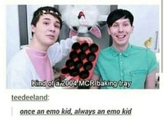 Even in a bunny suit, Dan Howell manages to be emo