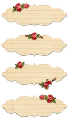 Free Printable Vintage Rose Labels