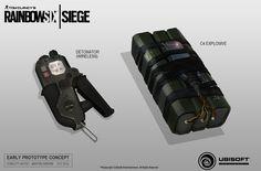 "ArtStation - Rainbow 6 Siege Early concept devellopment C4 and Detonator, Martin Sabran ""MSab"""