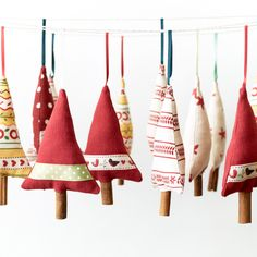 Handmade Christmas Decor Trees with cinnamon sticks for trunks