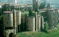 Architect Ricardo Bofill's house from a former cement factory - Barcelona (Spain) : https://spfaust.wordpress.com/2012/01/11/re-architecture-cement-factory-transformed-into-contemporary-medieval-castle/  https://www.nowness.com/series/in-residence/ricardo-bofills-house-by-albert-moya