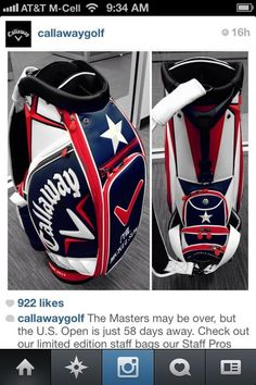 Check out Phil's US Open Bag ready to go... NICE!!!