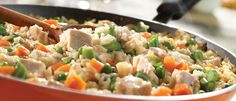 This tasty, one-skillet dish is the perfect solution for busy weeknights…it's got protein, rice and veggies all together, and it's ready in a snap. Turkey Dishes, Turkey Recipes, Chicken Recipes, Dinner Recipes, Recipe Chicken, Dinner Ideas, Quick Weeknight Meals, Easy Meals, Ground Turkey Dinners