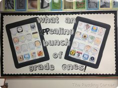 5 for Friday and Classroom Pictures APPs Ipad Bulletin Board, Class Bulletin Boards, Classroom Setup, Classroom Displays, Classroom Organization, Beginning Of The School Year, Back To School, School Stuff, Classroom Pictures
