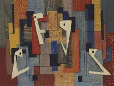 Irene Rice Pereira (1902-1971)  Abstract  signed 'I Rice Pereira F.A.P.' (lower right)  oil and pencil on board  17¼ x 23 in. (43.8 x 58.4 cm.)