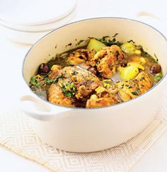 Chicken, lemon & olive tagine recipe #food #morocco #tajine