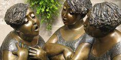 Talking Bronze Statue Ladies