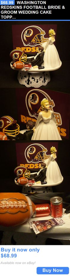 Wedding Cakes Toppers: Washington Redskins Football Bride And Groom Wedding Cake Topper Sports Funny BUY IT NOW ONLY: $68.99