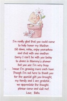seed poems for babyshower | Baby