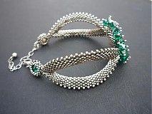Náramky - Slza Emerald - 1233993