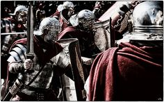 Historical Reconstruction - LEGIO XIII show legionary combat