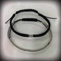 Bracelet sterling silver macrame