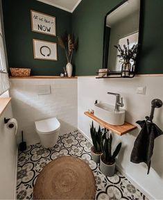 Toilet And Bathroom Design, Small Toilet Room, Bathroom Interior Design, Guest Toilet, Bathroom Designs, Cozy Bathroom, Bathroom Colors, White Bathroom, Master Bathroom
