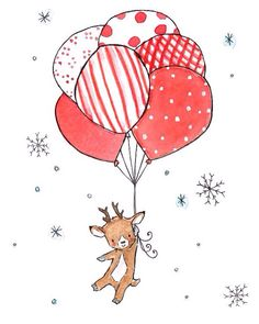 Reindeer Party Merry Christmas Happy New Year Seasons Greetings  Holiday Season