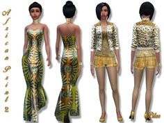 The Sims Resource: African Print 2 by Pilar • Sims 4 Downloads