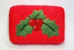 Christmas Holly Felted Soap by MountainScentament on Etsy