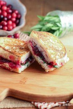 Turkey & Cranberry Panini. A Thanksgiving in a sandwich!