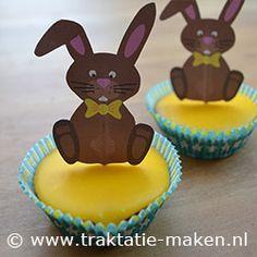 Afbeelding van de traktatie Cupcake Paashaas