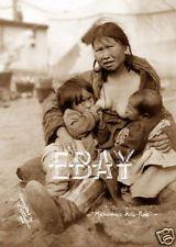 ALASKA AK NATIVE AMERICAN ESKIMO WOMAN BREAST FEEDING CHILD NURSING BABY PHOTO 2
