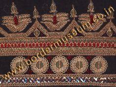 Kasab Marodi work Border with Badla & Red Silk Thread.
