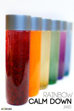 Rainbow Calm Down Jars | Perfect for sensory and calming anxious children