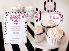 Free Printable Barbie Party Designs by The TomKat Studio