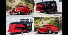 1941 Kozy Coach Trailer And 1932 Ford V-8 Hot Rod Are Made For Each Other #Auction #Classics