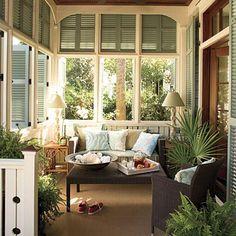 LOVE SHUTTER IDEA   Enclosed porch