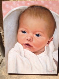 Portrait Oil painting of our new Nieces baby.