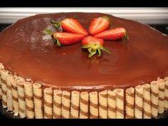 σοκολατένια τούρτα φράουλας των γενεθλίων μου σπιτική chocolate cake with strawberries. - YouTube Delicious Desserts, Dessert Recipes, Greek Desserts, Cheesecake, Pudding, Sweets, Layer Cakes, Youtube, Food
