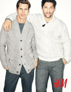 H Men Fall 2011 by Terry Richardson (H) Serious my two favorite male models.. GRrrr... Tony Ward and Mark van der Loo