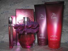 AVON Flor Violeta 4-piece Eau du Parfum Spray, Rollette, Lotion & Shower Gel