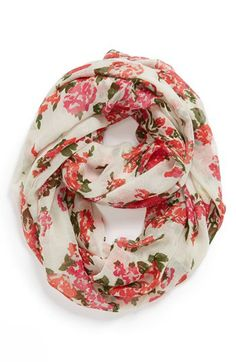 Capelli of New York 'All Over Flora' Infinity Scarf (Juniors) available at #Nordstrom